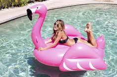 Pool Vibes :: Flamingo Float :: Summer Vibes :: Friends :: Adventure :: Sun :: Poolside Fun :: Blue Water :: Paradise :: Bikinis :: See more Untamed Summertime Inspiration @untamedorganica