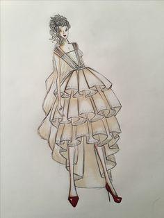 #fashion #sketch #houseofgerhard #designer #bridal #tailor-made #perfection