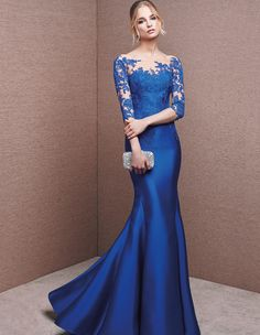 Mermaid dress, with sweetheart neckline