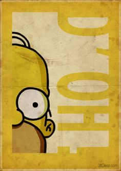 Simpsons Vintage Style posters by 3ftDeep by meagan
