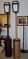 DIY LAMP POST Yes, this is a DIY!! That fact was a surprise to many who saw it up close. They thought it had been purchased. I'll admi...