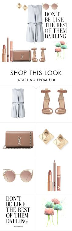 """"" by saraprifti on Polyvore featuring Miss Selfridge, Gianvito Rossi, Yves Saint Laurent, Valentino, MANGO and Dolce Vita"