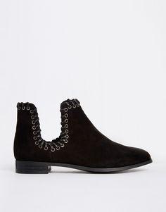 Image 2 ofASOS ALANNAH Weave Detail Ankle Boots