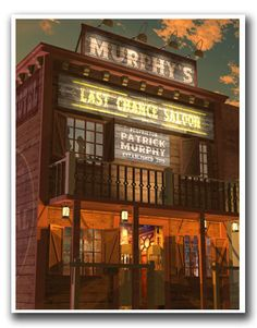 Personalized Western Saloon Retro Sign Print by FantaSigns on Etsy, $29.95