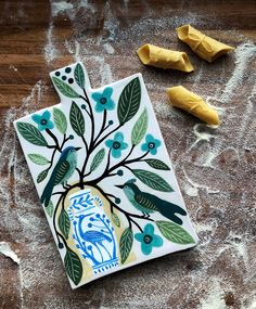 a new project : pasta boards — Gabrielle Schaffner Ceramics Blue And White Vase, White Vases, Dash And Dot, Pasta, Two Birds, The Potter's Wheel, Decorative Tile, Antique Shops, Different Patterns