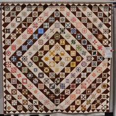 Dear Jane, Mary's Way, 2003-2010 by Mary Derthick, quilted by Robin Hill. Northwest Quilters Show. Photo by Bill Volckening | Wonkyworld.