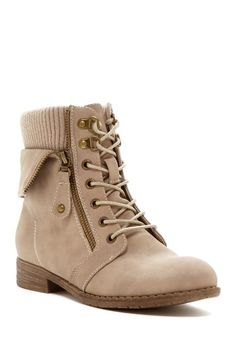 Pinky Sky Lace-Up Boot
