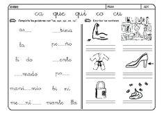 Fichas infantiles para aprender a leer y aprender a escribir con la letra C. Dibujos Lectoescritura con letra C para colorear. Lectoescritura_CyQ_32