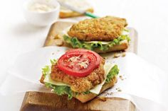 Zippy Parmesan Veal Sandwich - The whole family will love making this quick an easy recipe. Add more hot sauce to the mix for a little extra zip! Parmesan, Pain Ciabatta, Veal Recipes, Sandwich Ingredients, Valeur Nutritive, Pepper Jack Cheese, Nutrition, Pork Dishes, Calories