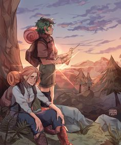 Fierrochase Week [Day 4: Hiking/Nature] Actually liked how the colors came out in this piece