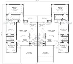 ideas about Duplex Plans on Pinterest   Duplex House Plans    First Floor Plan of Multi Family Plan Here  Mom  This one has