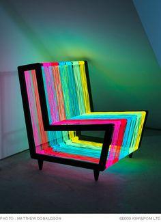 Electroluminescent chair