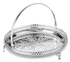 Cake Sandwich Tray Silver Plated with special tarnish resistant finish that never needs silver polishing: Amazon.co.uk: Kitchen & Home