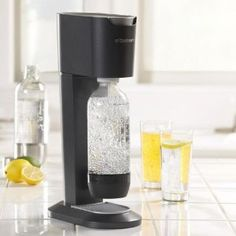 Soda Stream! Got it for Mother's Day. I like it for straight-up carbonated water with a squeeze of lemon or lime and some LemonDrop Stevia.