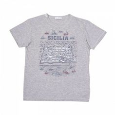 Dolce & Gabbana Boys SICILIA Grey T-Shirt Summer Looks, Grey, Boys, Mens Tops, T Shirt, Fashion, Gray, Baby Boys, Supreme T Shirt