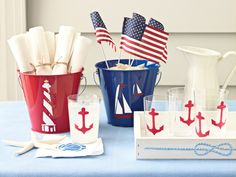 Don't let the ship sail on summer celebrations yet! Try this simple craft project for outdoor entertaining.