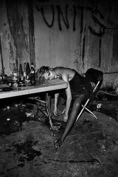 """Anja, Edita V, Daria, Andreea + Lily Get """"Pretty Wasted"""" for Interview Magazine"""