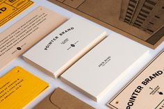 business cards for Pointer Brand / designed by Daniel Blackman