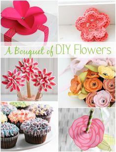 DIY Flowers Roundup at www.1dogwoof.com