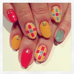 Mosaic tile art nails