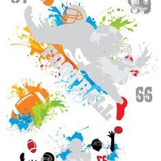 Papel de Parede Futebol Americano 02 - Papel de Parede Digital