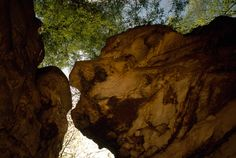 "West Virginia's Beartown State Park never really changes, and that's intentional. Its 107 acres have been minimally developed since its establishment more than 40 years ago -- created, in part, to memorialize a fallen soldier in the Vietnam War. The landscape includes strange rock formations, made up of Pottsville sandstone, which were deposited thousands of years ago at the shore of an ancient sea. Thanks to erosion, pathways now weave among the ""town of rocks."""
