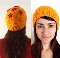 Dragon Ball Z Beanie hat, handmade Free Crochet, Knit Crochet, Crochet Hats, Crochet Designs, Crochet Patterns, Goku, Nerd Crafts, Crochet Beanie Pattern, Crochet Projects