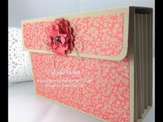 YouTube Accordion File for Sicily C6 size Cards or Six textured Embossing Folders Stampin Up Demonstrator Linda Parker