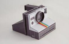 polaroid camera paper model - Buscar con Google