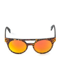 0cce21a4744b Italia independent Leopard Print Sunglasses in Brown | Lyst Italia  Independent, Shady Lady, Accessories