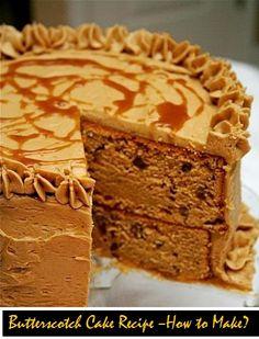 Butterscotch Cake Recipe – How to Make?