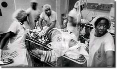 Human compassion can be so laced with irony. Black physicians treating in the ER a member of the KKK.