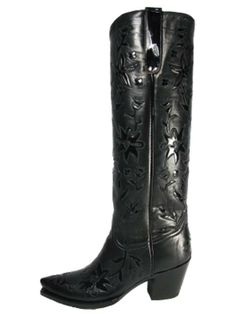 Liberty Boots 60s Cowgirl Black on Black