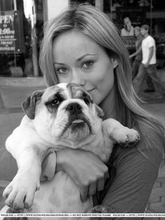 Actress Olivia Wilde & Lola #celebrities #dogs