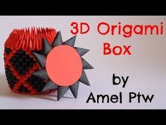 How To: 3D Origami Box - Model 1 - YouTube