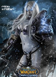 female Licha King cosplay with some wicked cool digital touches...