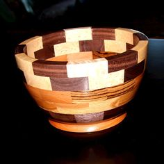 Segmented Wood Bowl 2 by thequilthaus on Etsy, $85.00