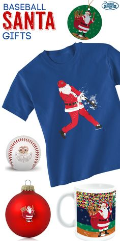 Have a special baseball player in your life?  Give them a great gift this Christmas with any of our Santa inspired products!  We offer tees, ornaments, socks and more, so you are sure to find the most perfect gift for your baseball player.  Only from ChalkTalkSPORTS.com!