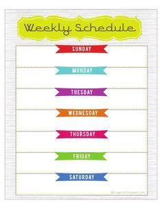 weekly calendar pdf diy pinte