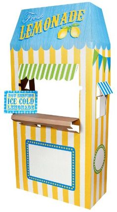 Carnival Games Party Supplies - Lemonade Cardboard Stand ...