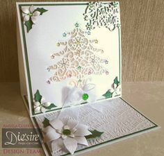 #Christmas #card created using Die'sire Create-a-Card dies from #crafterscompanion. #festive #holiday