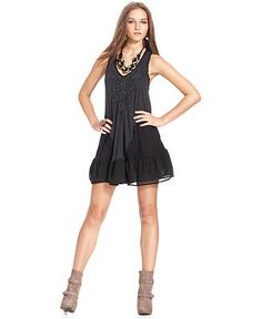 bb7da02840 Free People Sleeveless V-Neck Studded Ruffled Dress Women - Dresses - Macy s