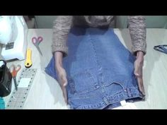 How to make flat fabric from old jeans / Recycle Reuse...very helpful for those of us with piles of teenagers jeans
