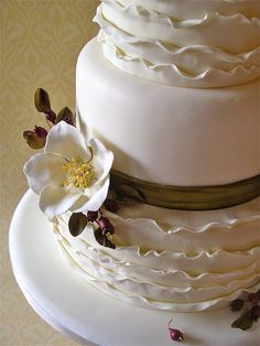 winter wedding cake by nice icing, via Flickr
