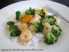 Orange and Broccoli Shrimp by Love Bakes Good Cakes