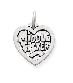 """""""Middle Sister"""" Heart Charm #jamesavery #sistercharm #charms Should get this for my sister"""