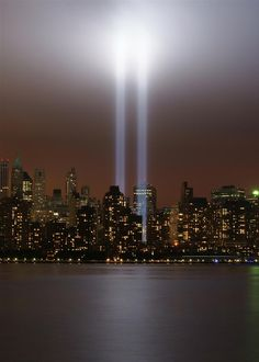 World Trade Center Tribute In Light Photograph  - World Trade Center Tribute In Light Fine Art Print