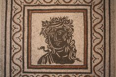 A Roman floor mosaic dating to the 3rd century CE and depicting one of the four Seasons. Black and white mosaics were very popular throughout the Roman period in Italy. Provenance: via Prenestina, Rome. Palazzo Massimo, Rome.