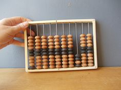 Small Vintage Abacus / Wooden Abacus / Made in USSR / by EUvintage