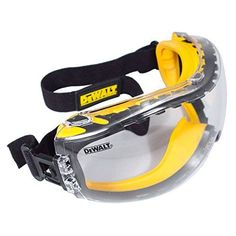 DEWALT DPG82-11 Concealer Clear Anti-Fog Dual Mold Safety Goggle